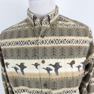 Woolrich Large Chamois Shirt L/S Duck Tribal FLAW